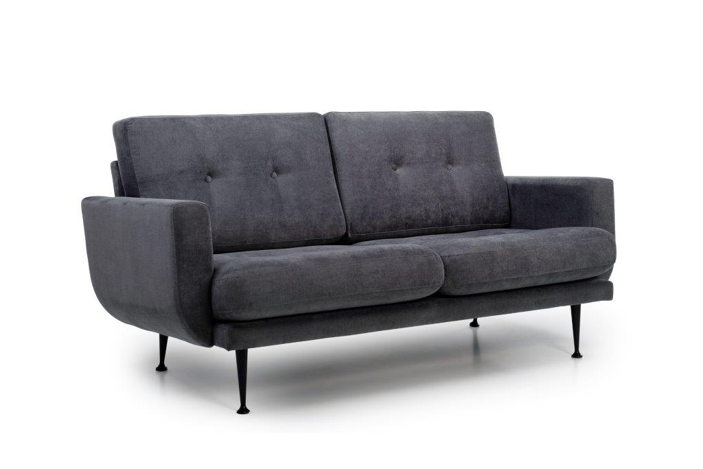 FLY 2-seater (ORINOCO 7 antrazite) side softnord soft nord scandinavian style furniture modern interior design sofa bed chair pouf upholstery