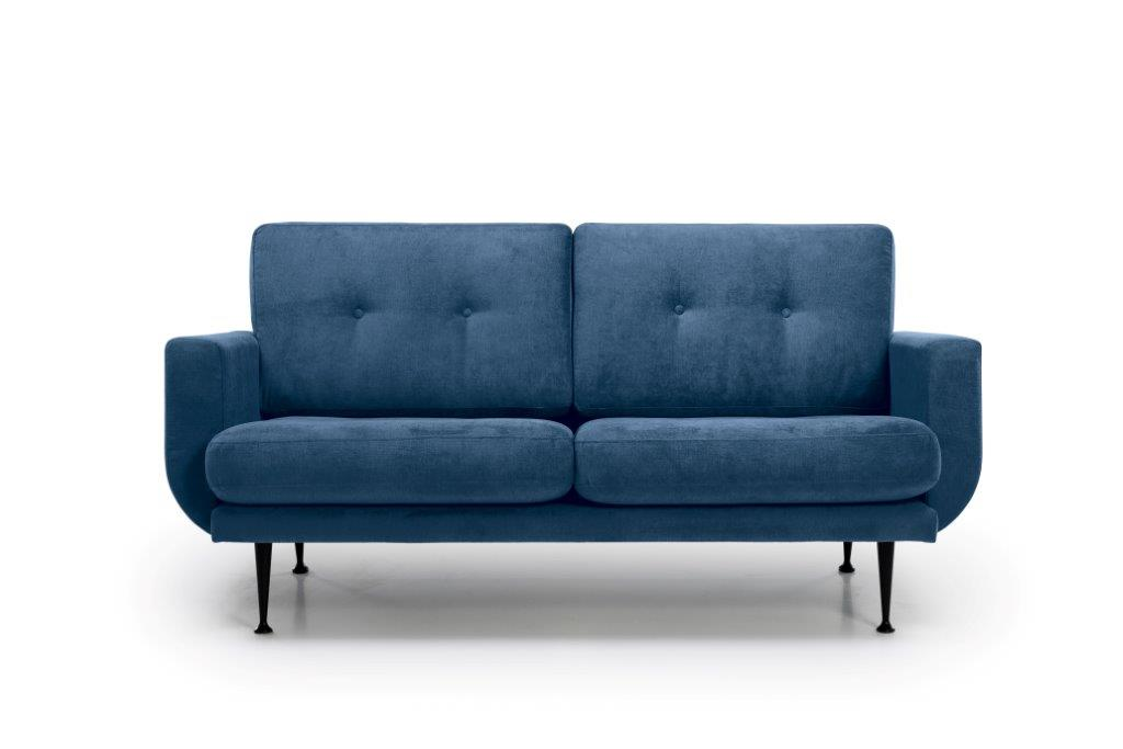 FLY 2 seater (Orinoco 16 blue) front softnord soft nord scandinavian style furniture modern interior design sofa bed chair pouf upholstery