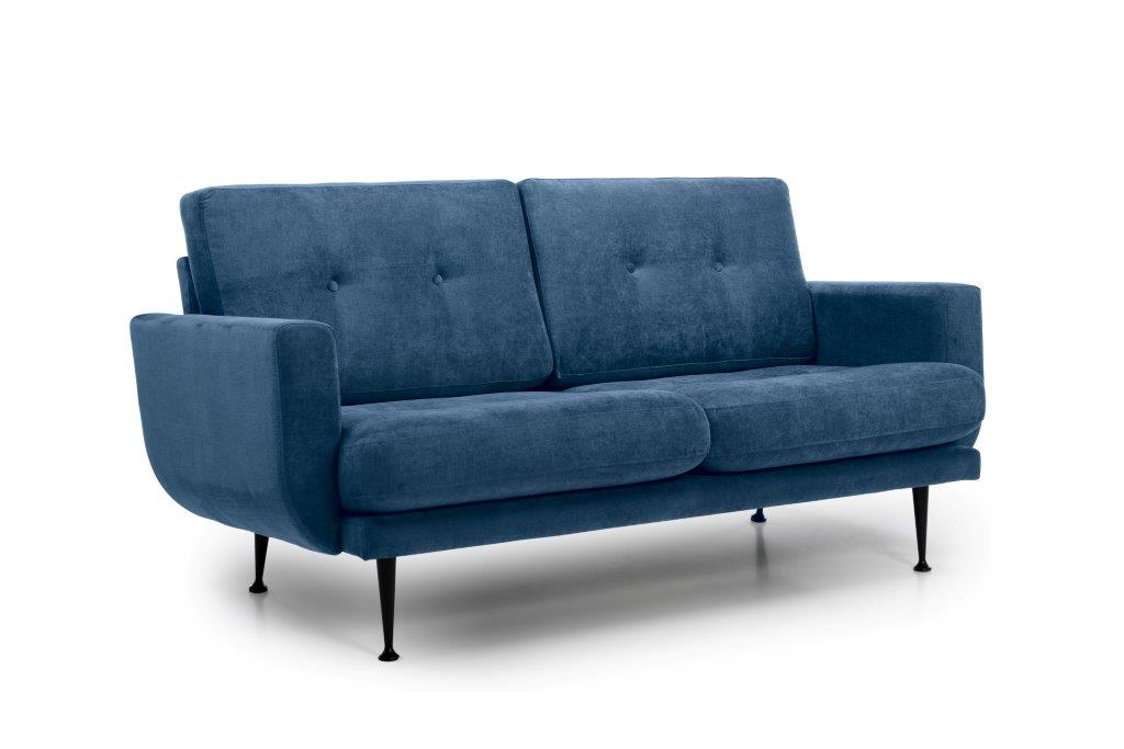 FLY 2 seater (Orinoco 16 blue) side softnord soft nord scandinavian style furniture modern interior design sofa bed chair pouf upholstery