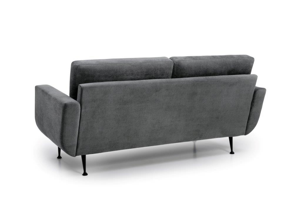 FLY 2 seater (Orinoco 3-1 light grey) back softnord soft nord scandinavian style furniture modern interior design sofa bed chair pouf upholstery