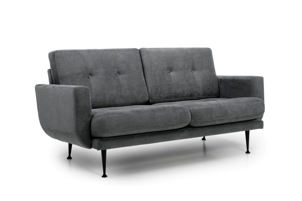 FLY 2 seater (Orinoco 3-1 light greye) side softnord soft nord scandinavian style furniture modern interior design sofa bed chair pouf upholstery
