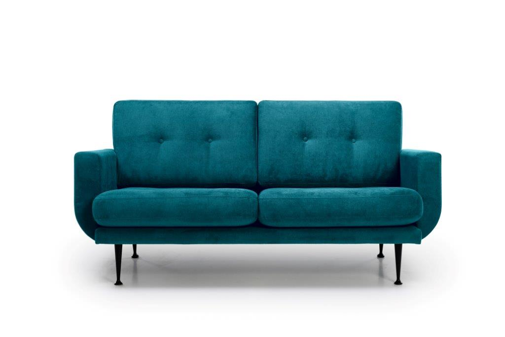 FLY 2 seater (Orinoco 30 petrol) front softnord soft nord scandinavian style furniture modern interior design sofa bed chair pouf upholstery