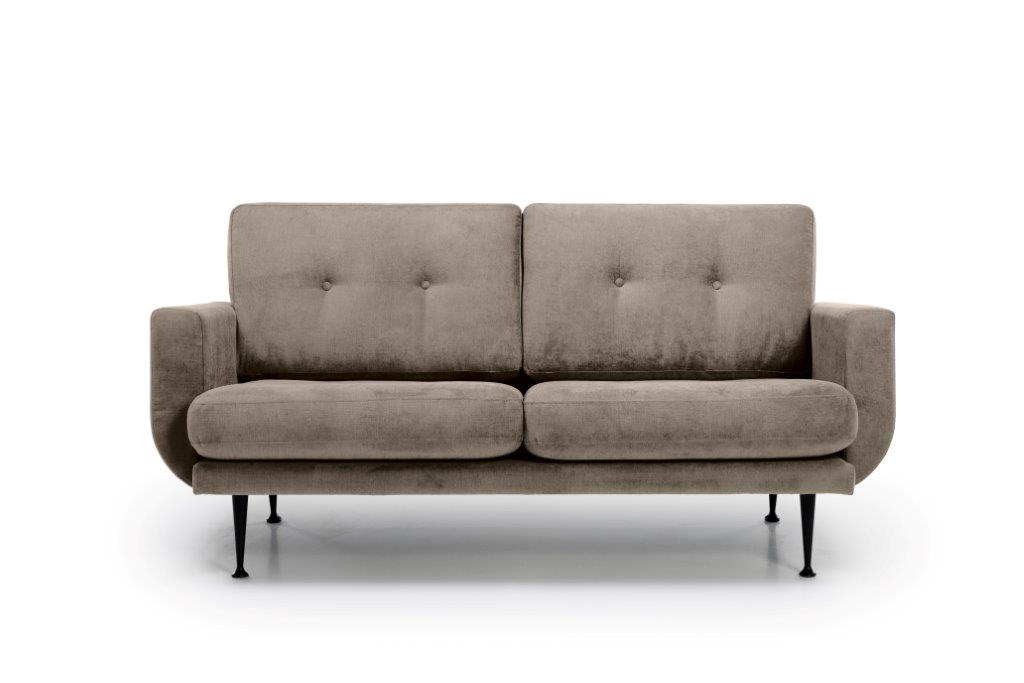 FLY 2 seater (Orinoco 4 sand) front softnord soft nord scandinavian style furniture modern interior design sofa bed chair pouf upholstery