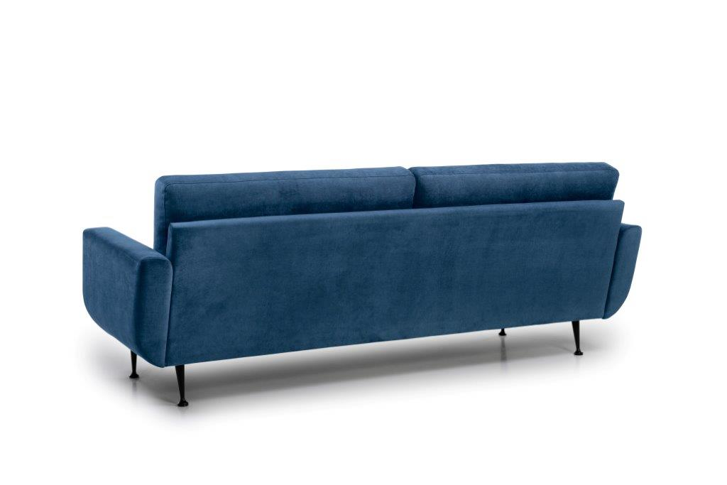 FLY 3 seater (Orinoco 16 blue) back softnord soft nord scandinavian style furniture modern interior design sofa bed chair pouf upholstery