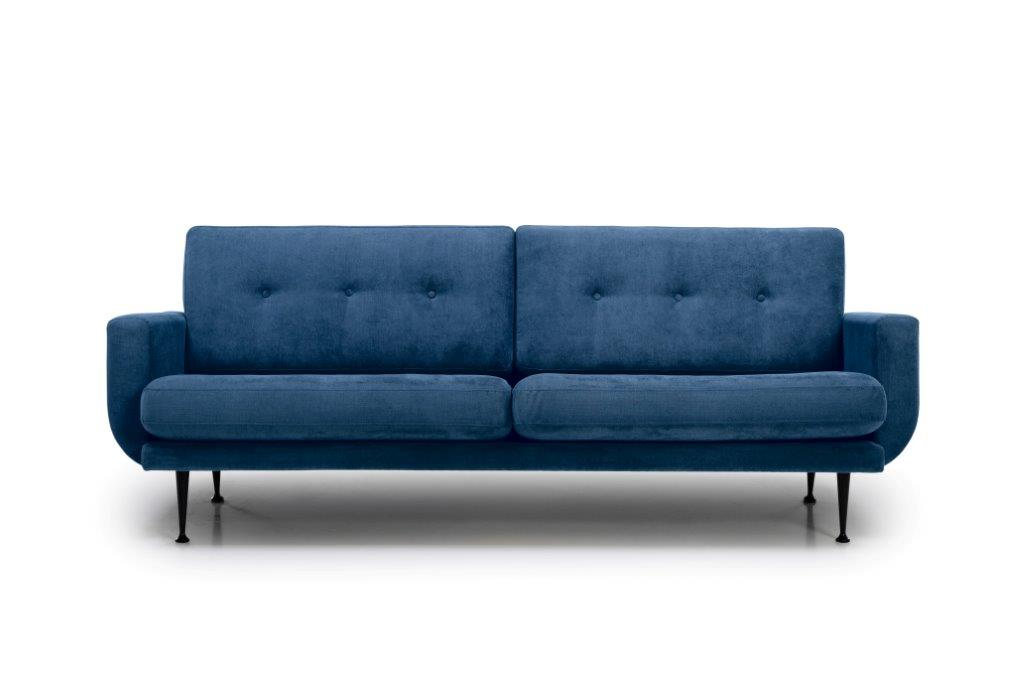 FLY 3 seater (Orinoco 16 blue) front softnord soft nord scandinavian style furniture modern interior design sofa bed chair pouf upholstery