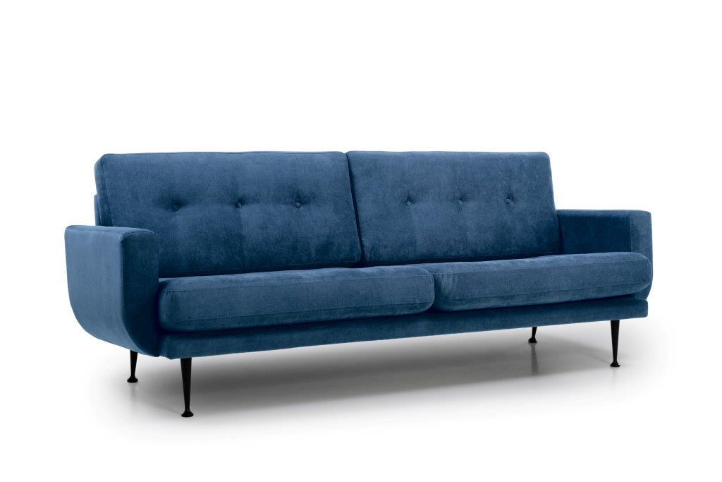 FLY 3 seater (Orinoco 16 blue) side softnord soft nord scandinavian style furniture modern interior design sofa bed chair pouf upholstery