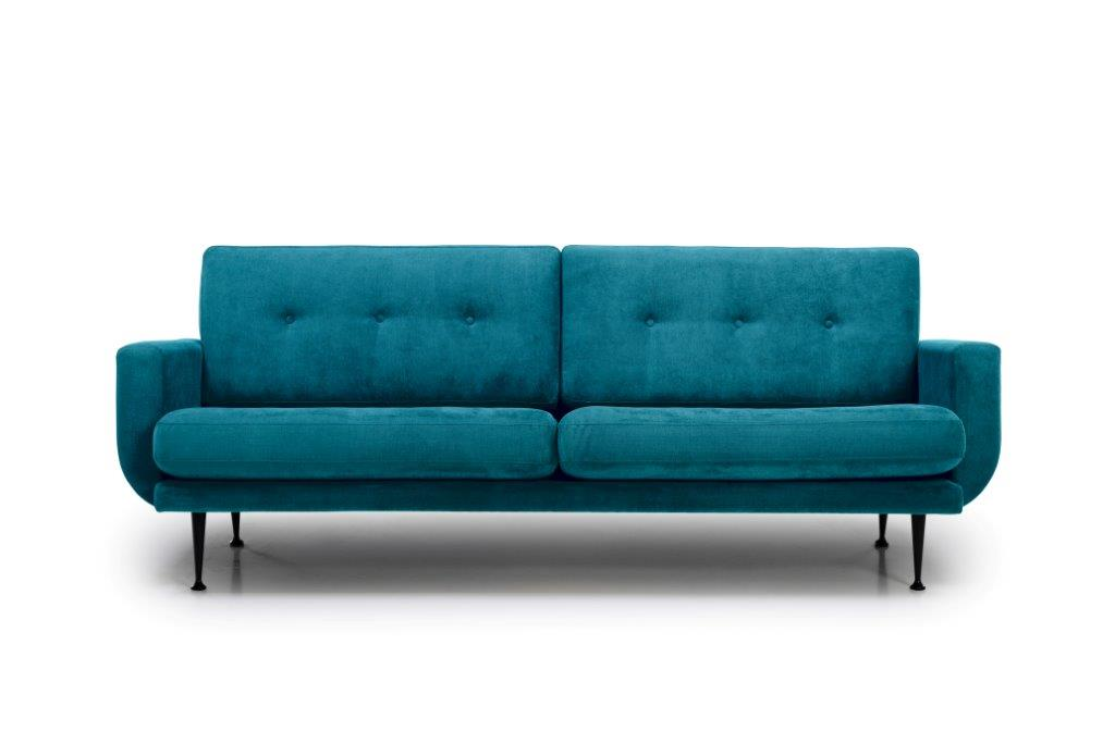 FLY 3 seater (Orinoco 30 petrol) front softnord soft nord scandinavian style furniture modern interior design sofa bed chair pouf upholstery
