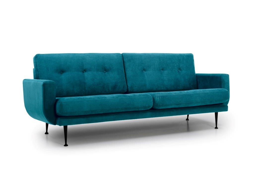 FLY 3 seater (Orinoco 30 petrol) side softnord soft nord scandinavian style furniture modern interior design sofa bed chair pouf upholstery
