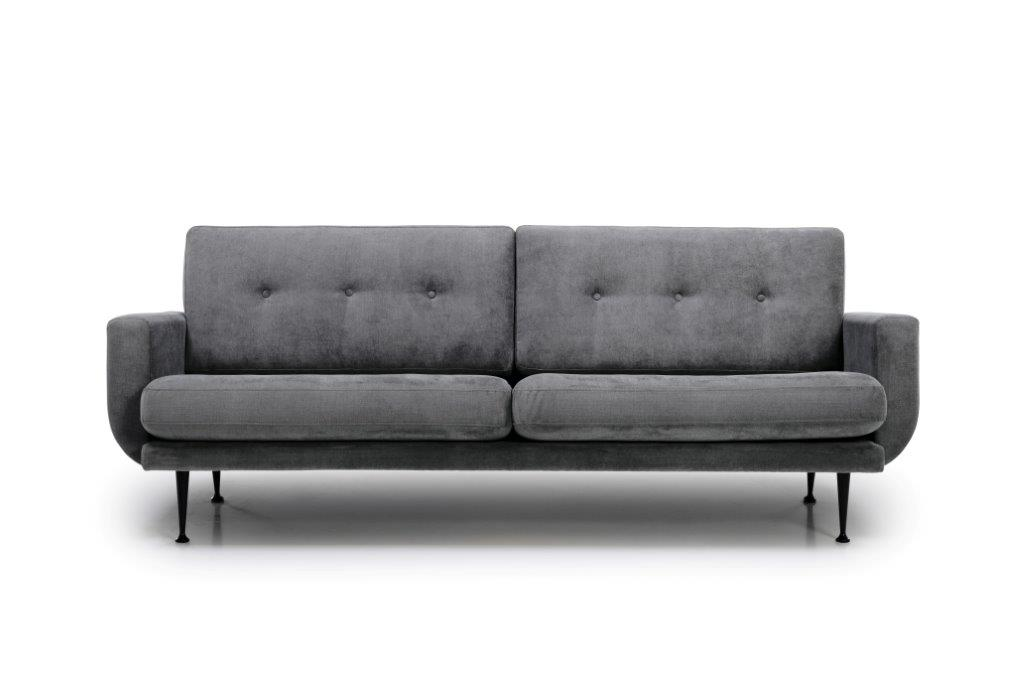FLY 3 seater (Orinoco 3_1 light grey) front softnord soft nord scandinavian style furniture modern interior design sofa bed chair pouf upholstery