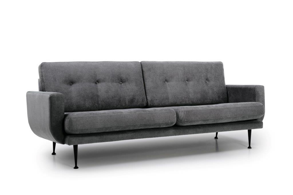FLY 3 seater (Orinoco 3_1 light grey) side softnord soft nord scandinavian style furniture modern interior design sofa bed chair pouf upholstery