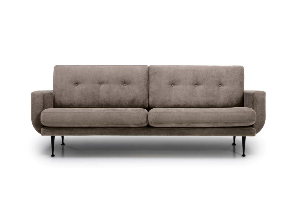 FLY 3 seater (Orinoco 4 sand) front softnord soft nord scandinavian style furniture modern interior design sofa bed chair pouf upholstery
