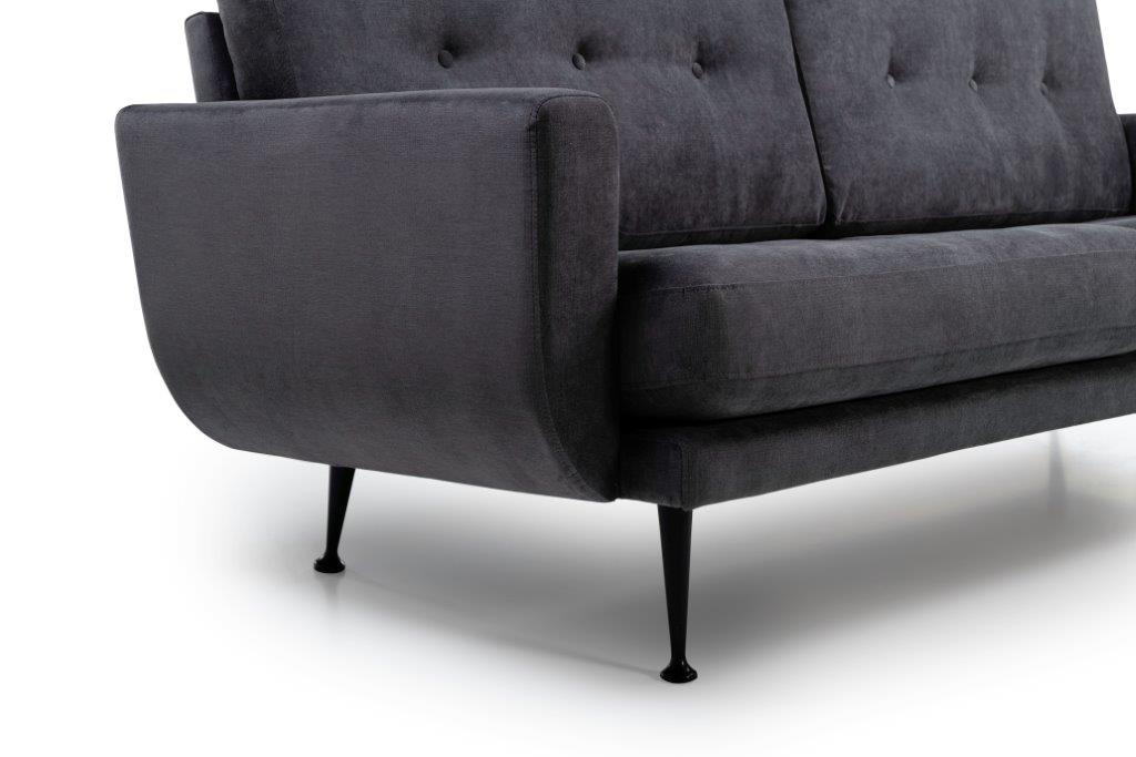 FLY (ORINOCO 7 antrazite) arm+leg softnord soft nord scandinavian style furniture modern interior design sofa bed chair pouf upholstery