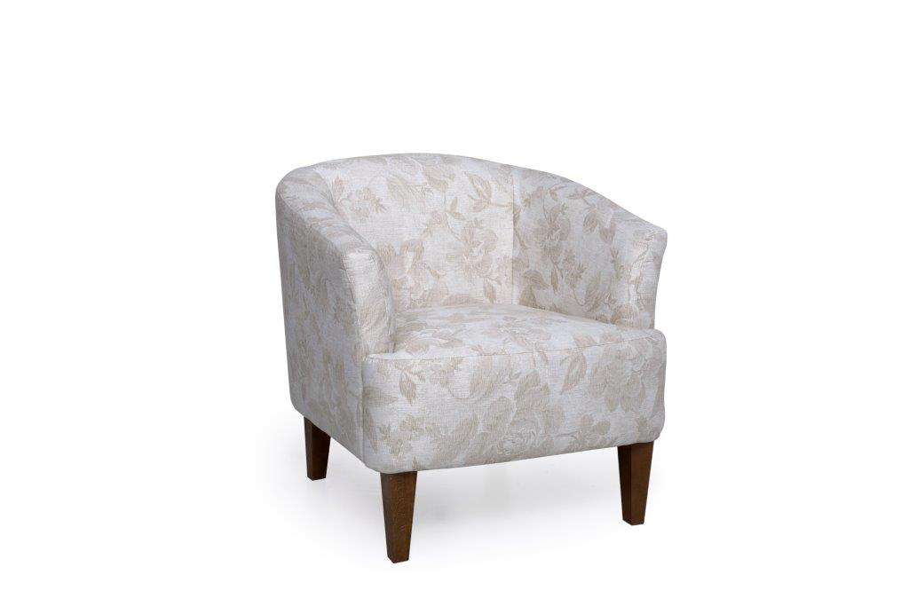 CYRUS chair (DAGANO floral latte) softnord soft nord scandinavian style furniture modern interior design sofa bed chair pouf upholstery