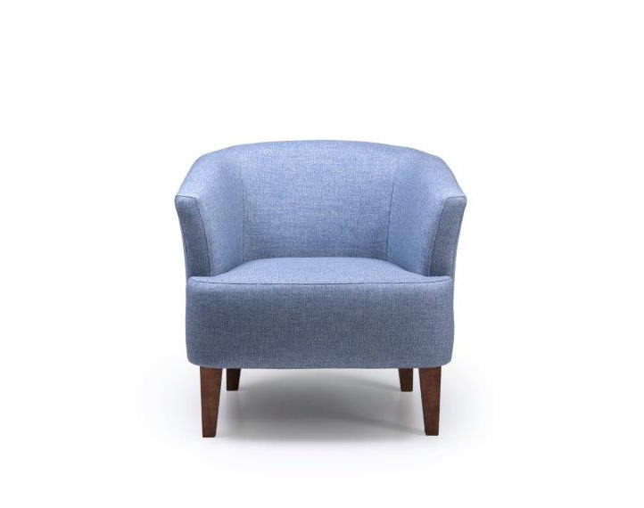 CYRUS chair (REDA 16,1 light blue) front softnord soft nord scandinavian style furniture modern interior design sofa bed chair pouf upholstery