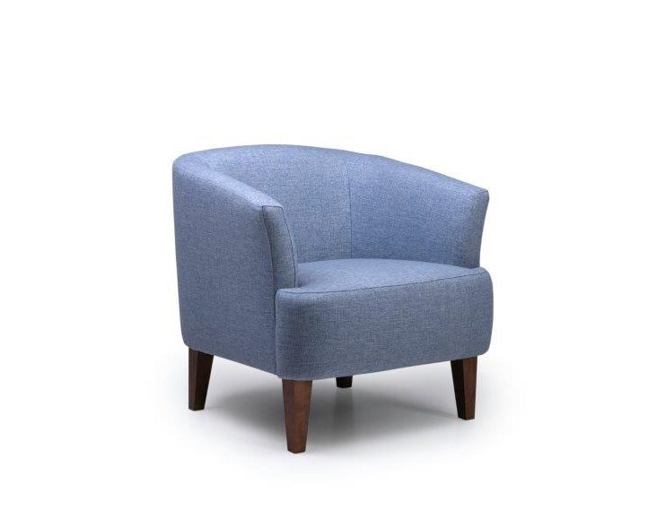 CYRUS chair (REDA 16,1 light blue) side softnord soft nord scandinavian style furniture modern interior design sofa bed chair pouf upholstery