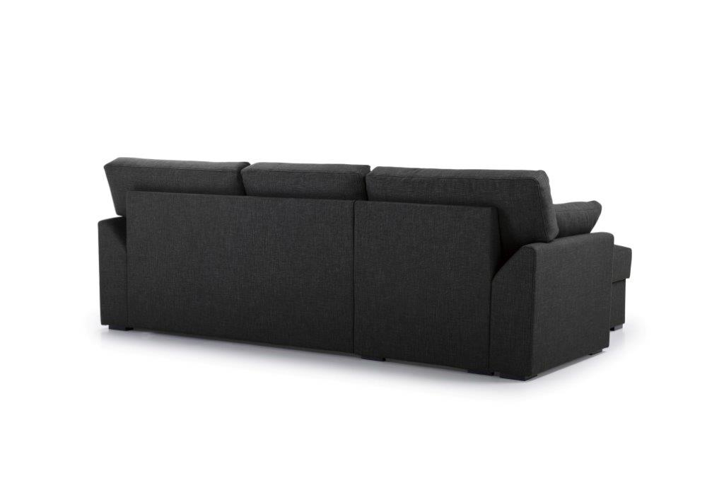 NEW MS chaiselongue with 2 seater arm G (LIDO 7 antrazite) back