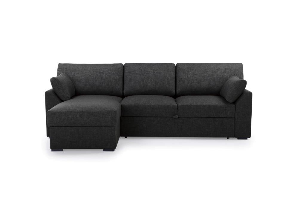 NEW MS chaiselongue with 2 seater arm G (LIDO 7 antrazite) front