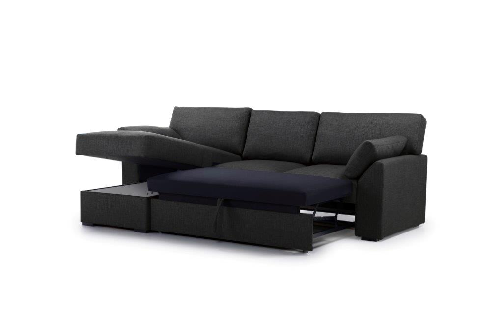 NEW MS chaiselongue with 2 seater arm G (LIDO 7 antrazite) side up