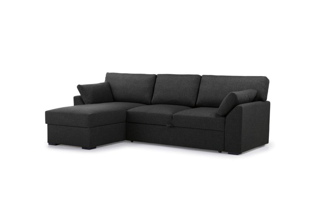 NEW MS chaiselongue with 2 seater arm G (LIDO 7 antrazite) side