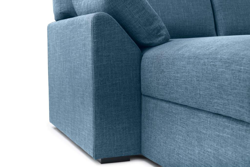 NEW MS chaiselongue with 2 seater arm G (WESTER 16 blue) arm