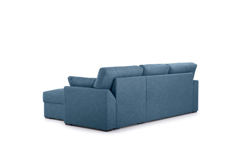 NEW MS chaiselongue with 2 seater arm G (WESTER 16 blue) back