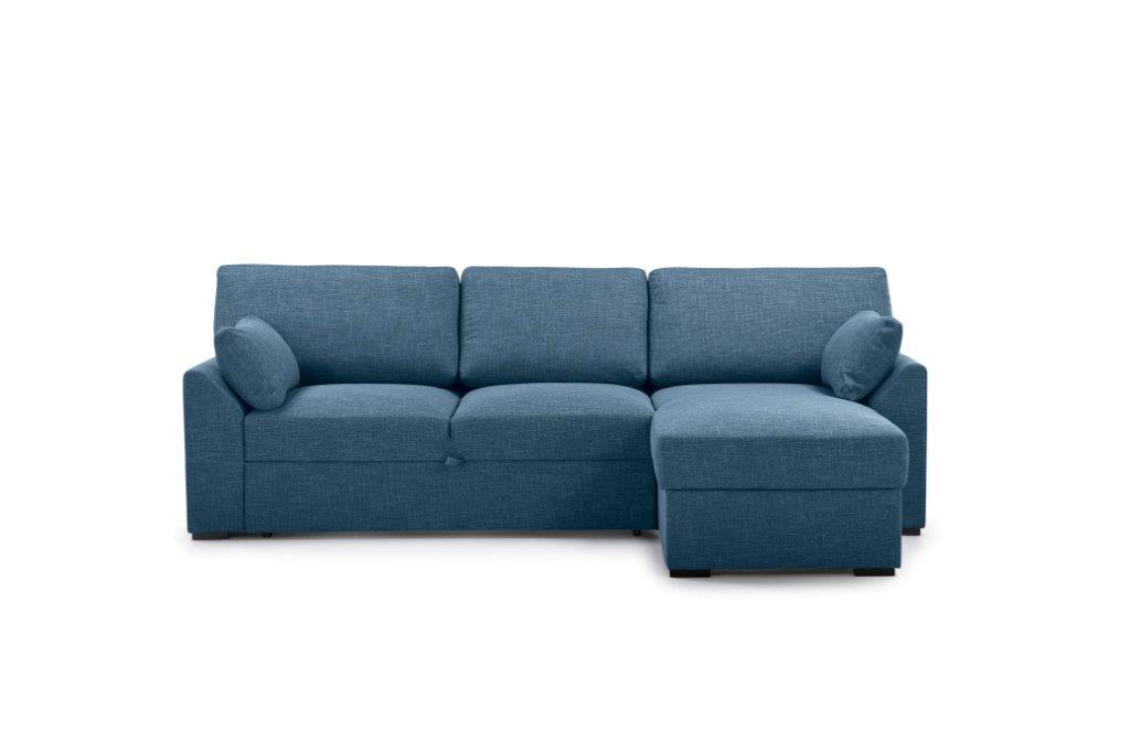 NEW MS chaiselongue with 2 seater arm G (WESTER 16 blue) front
