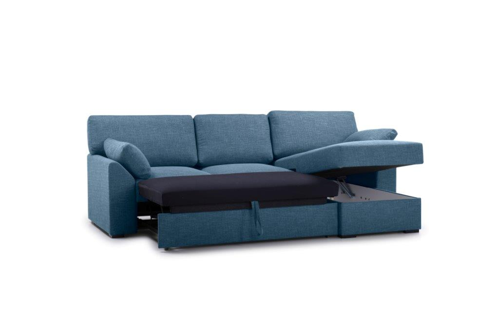 NEW MS chaiselongue with 2 seater arm G (WESTER 16 blue) side up