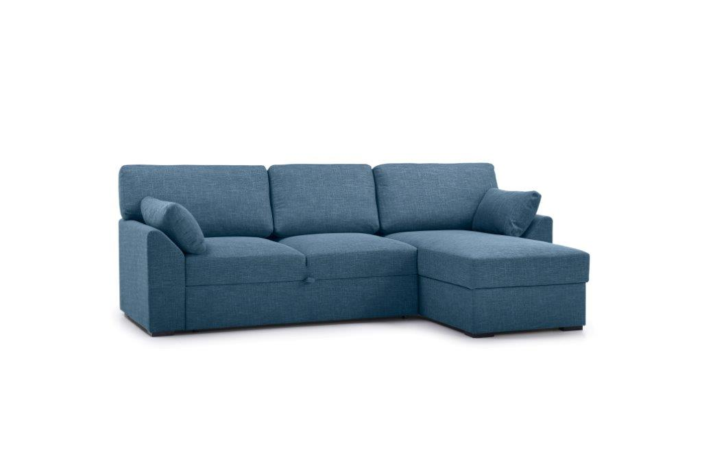 NEW MS chaiselongue with 2 seater arm G (WESTER 16 blue) side