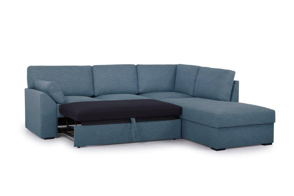 NEW MS open corner with 2 seater arm G (WESTER 16 blue) side open