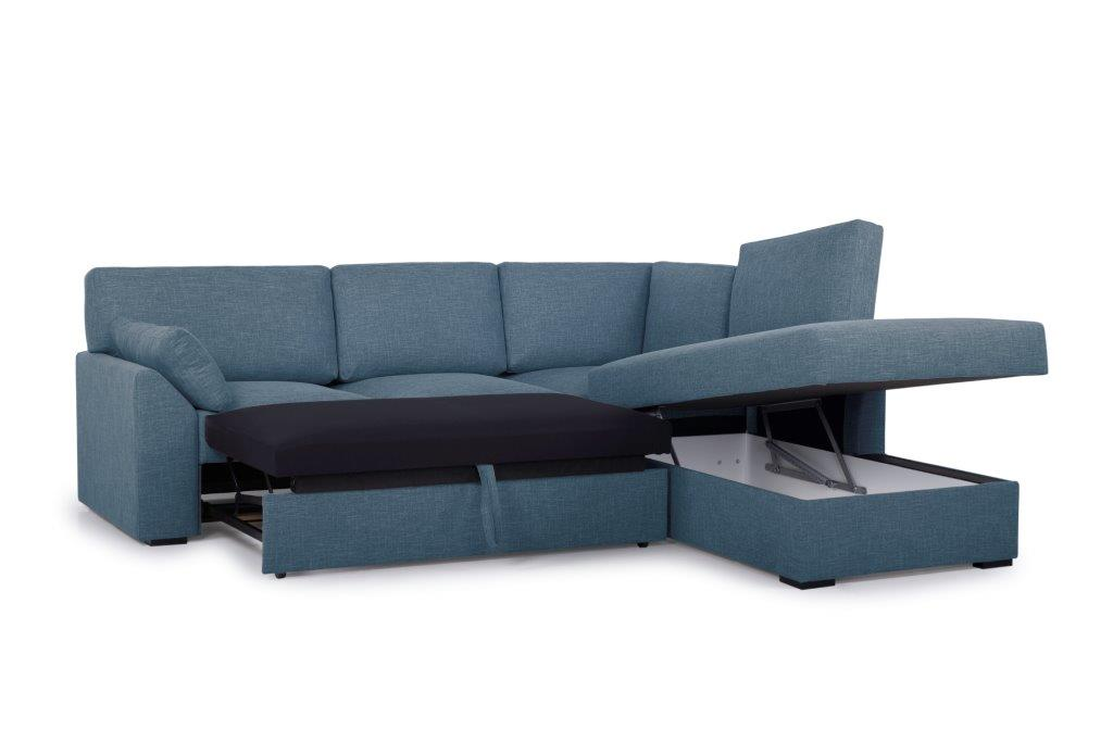 NEW MS open corner with 2 seater arm G (WESTER 16 blue) side up