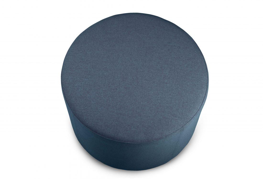 RONDO pouf (Verona 16-2 dark blue) top