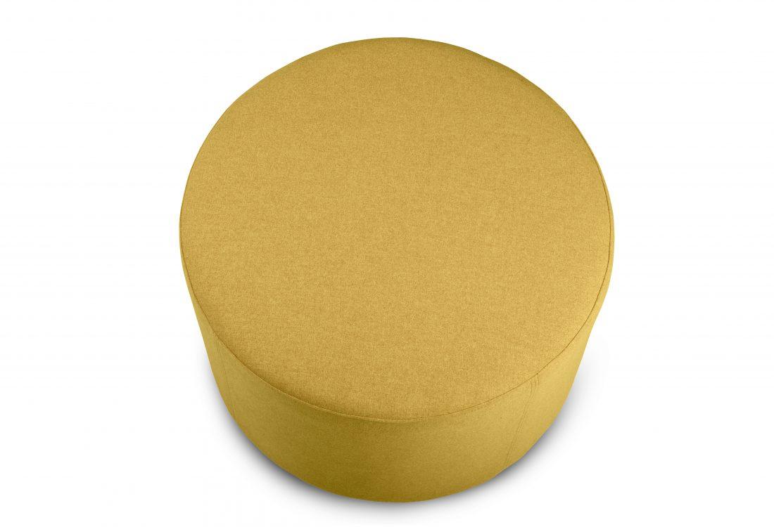 RONDO pouf (Verona 23 yellow) top