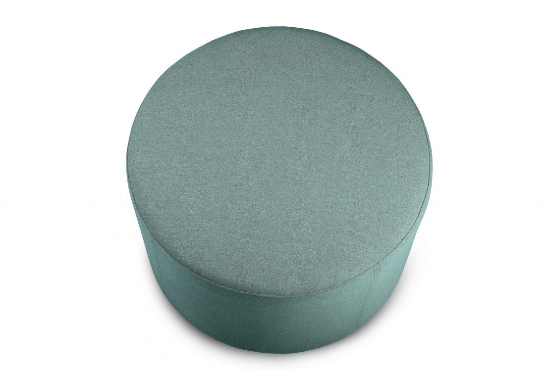 RONDO pouf (Verona 29 sapphire) top