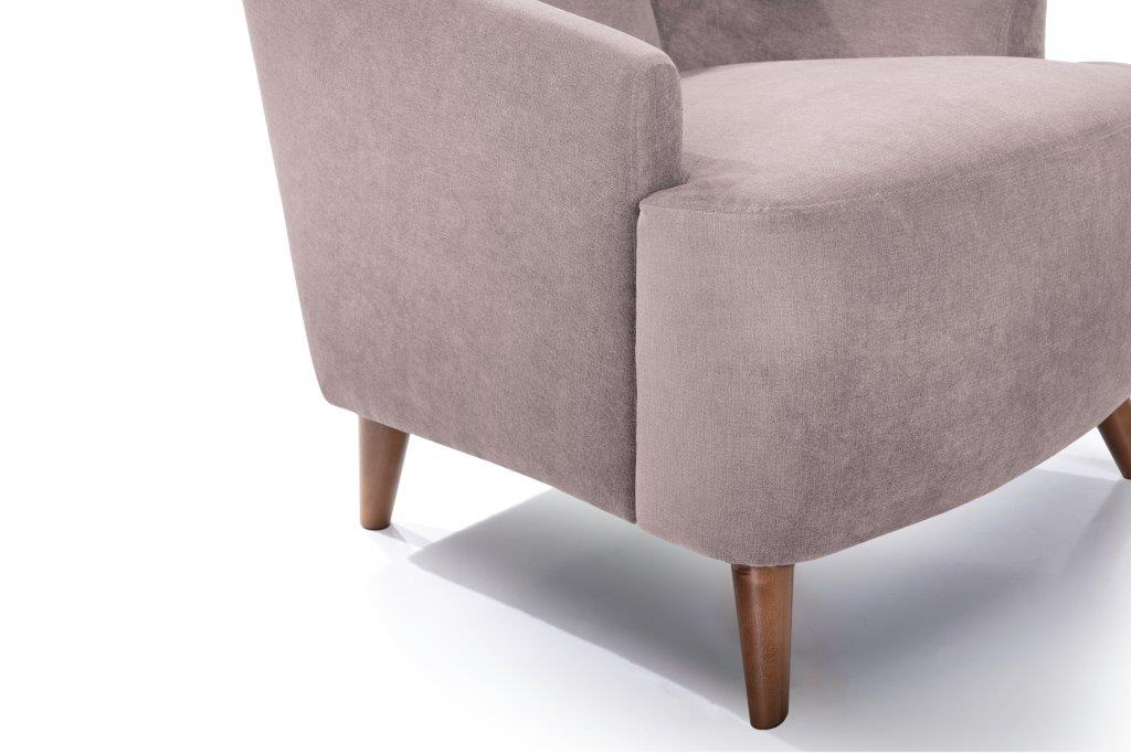 SLOPE chair (ORINOCO 11 pink) detail softnord soft nord scandinavian style furniture modern interior design sofa bed chair pouf upholstery
