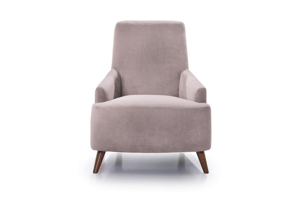 SLOPE chair (ORINOCO 11 pink) front softnord soft nord scandinavian style furniture modern interior design sofa bed chair pouf upholstery