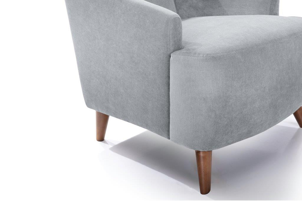 SLOPE chair (ORINOCO 22_1 light silver) detail softnord soft nord scandinavian style furniture modern interior design sofa bed chair pouf upholstery