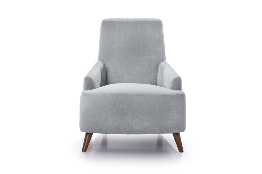 SLOPE chair (ORINOCO 22_1 light silver) front softnord soft nord scandinavian style furniture modern interior design sofa bed chair pouf upholstery