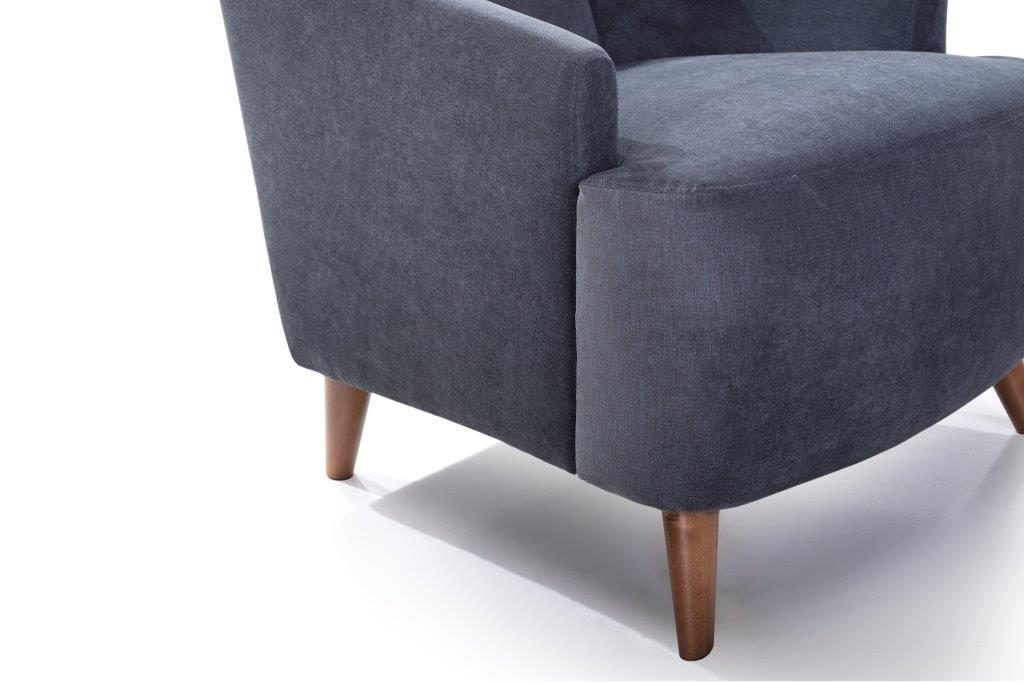 SLOPE chair (ORINOCO 7 antrazite) detail softnord soft nord scandinavian style furniture modern interior design sofa bed chair pouf upholstery
