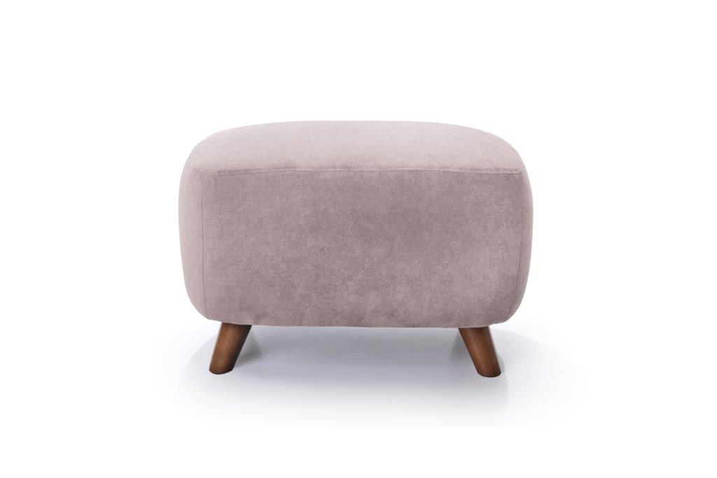 SLOPE pouf (ORINOCO 11 pink) front softnord soft nord scandinavian style furniture modern interior design sofa bed chair pouf upholstery