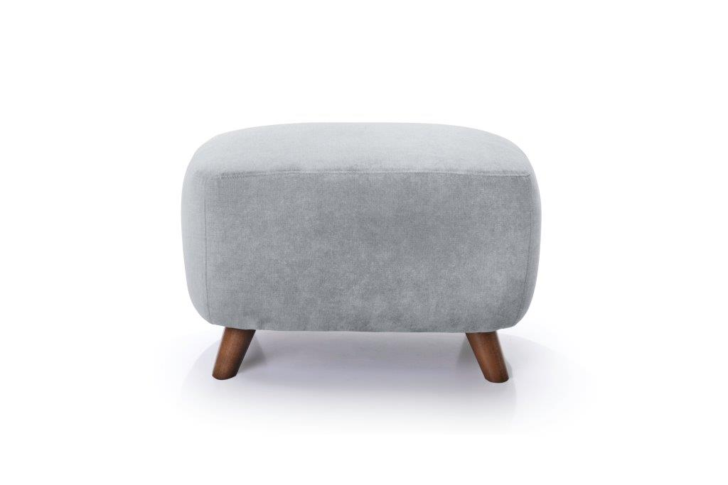 SLOPE pouf (ORINOCO 22_1 light silver) front softnord soft nord scandinavian style furniture modern interior design sofa bed chair pouf upholstery