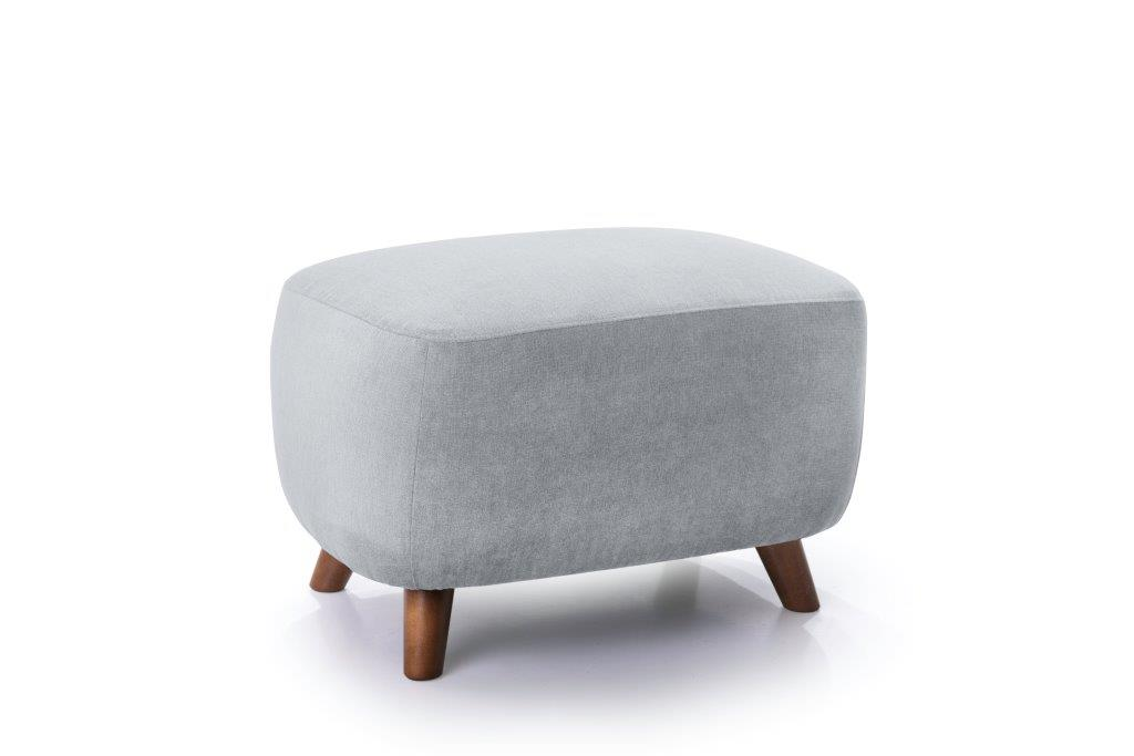 SLOPE pouf (ORINOCO 22_1 light silver) side softnord soft nord scandinavian style furniture modern interior design sofa bed chair pouf upholstery
