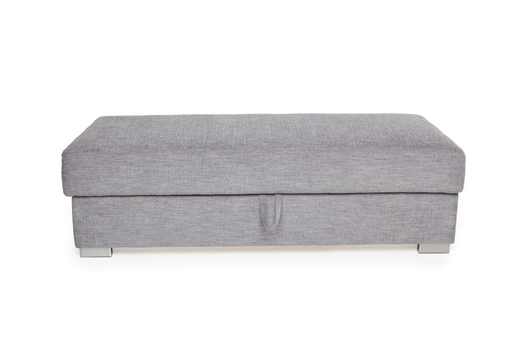 VISBY 2,5 pouffe with storage(DELIGHT 3 grey) (1) softnord soft nord scandinavian style furniture modern interior design sofa bed chair pouf upholstery