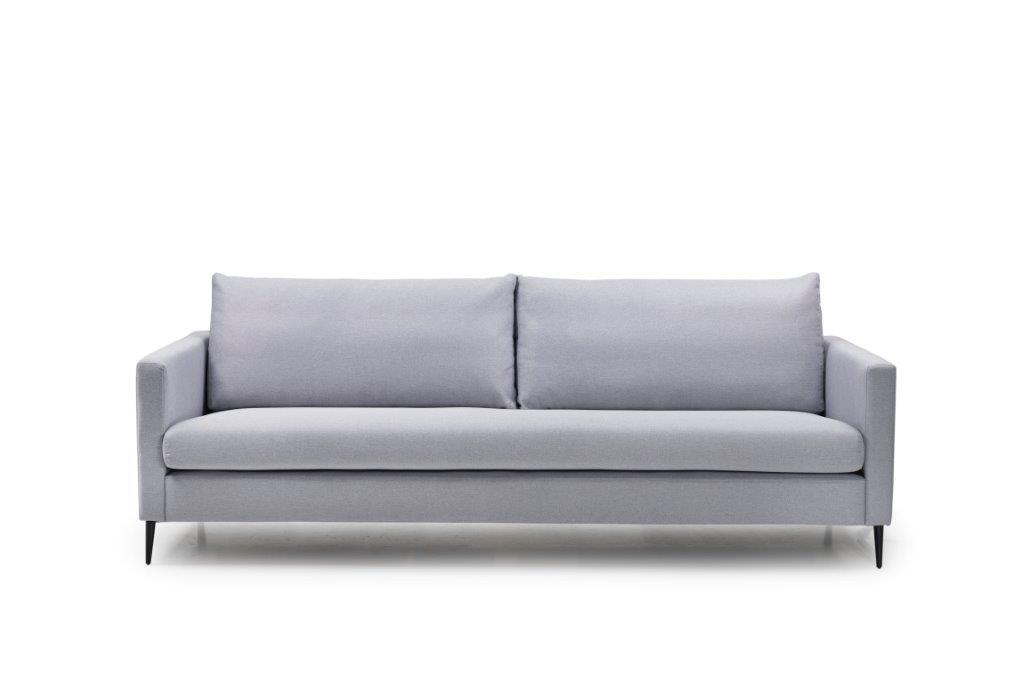ADAGIO 3 seaterwith 1 sitting cushion (MALMO 22 silver) front softnord soft nord scandinavian style furniture modern interior design sofa bed chair pouf upholstery