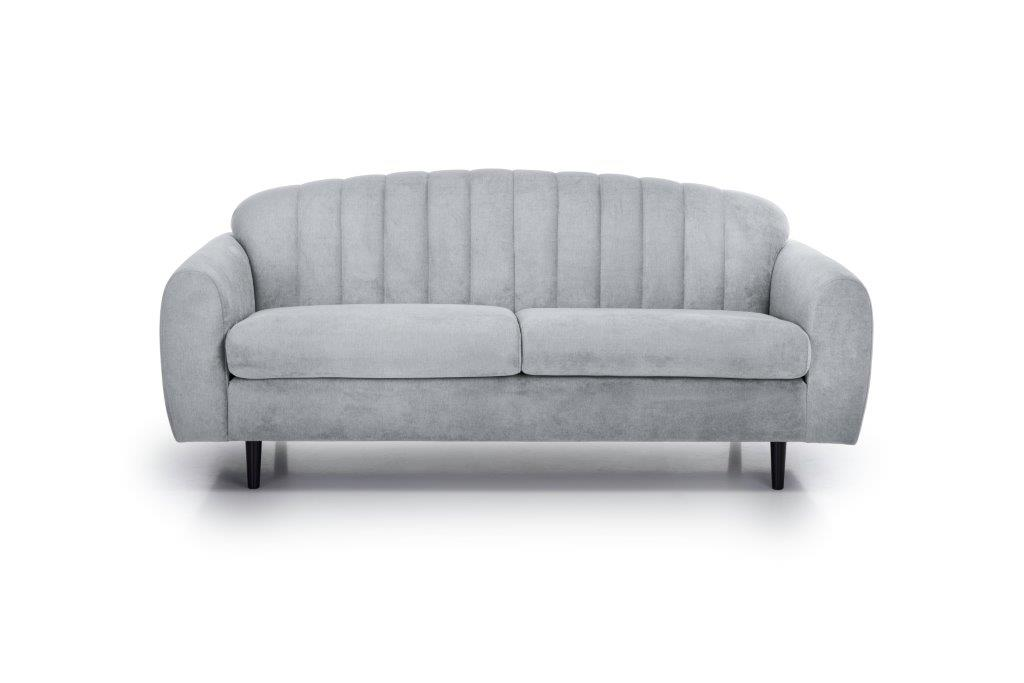 CADILLO 2,5-seater (ORINOCO 22_1 light silver) front softnord soft nord scandinavian style furniture modern interior design sofa bed chair pouf upholstery