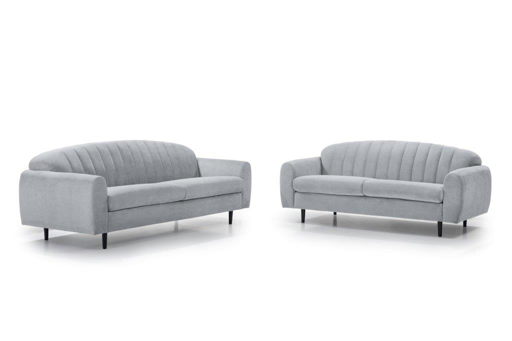 CADILLO 2,5+3 (ORINOCO 22_1 light silver) softnord soft nord scandinavian style furniture modern interior design sofa bed chair pouf upholstery