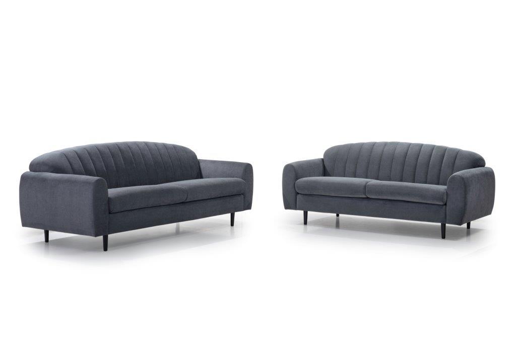 CADILLO 2,5+3 (ORINOCO 7 antrazite) softnord soft nord scandinavian style furniture modern interior design sofa bed chair pouf upholstery