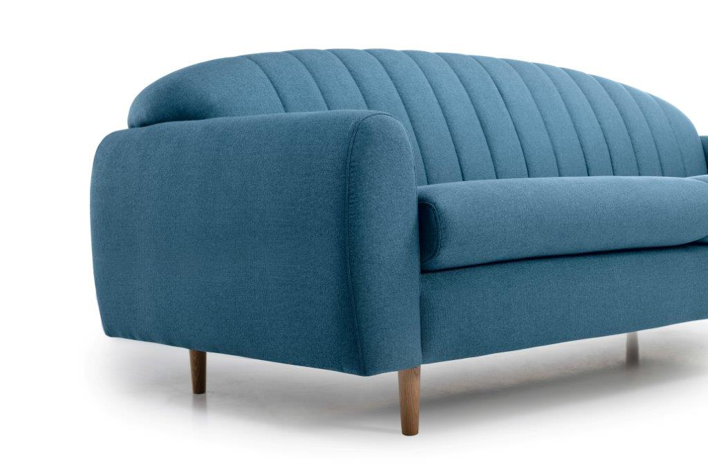 CADILLO 3 seater (FAME 16 blue) arm + leg softnord soft nord scandinavian style furniture modern interior design sofa bed chair pouf upholstery