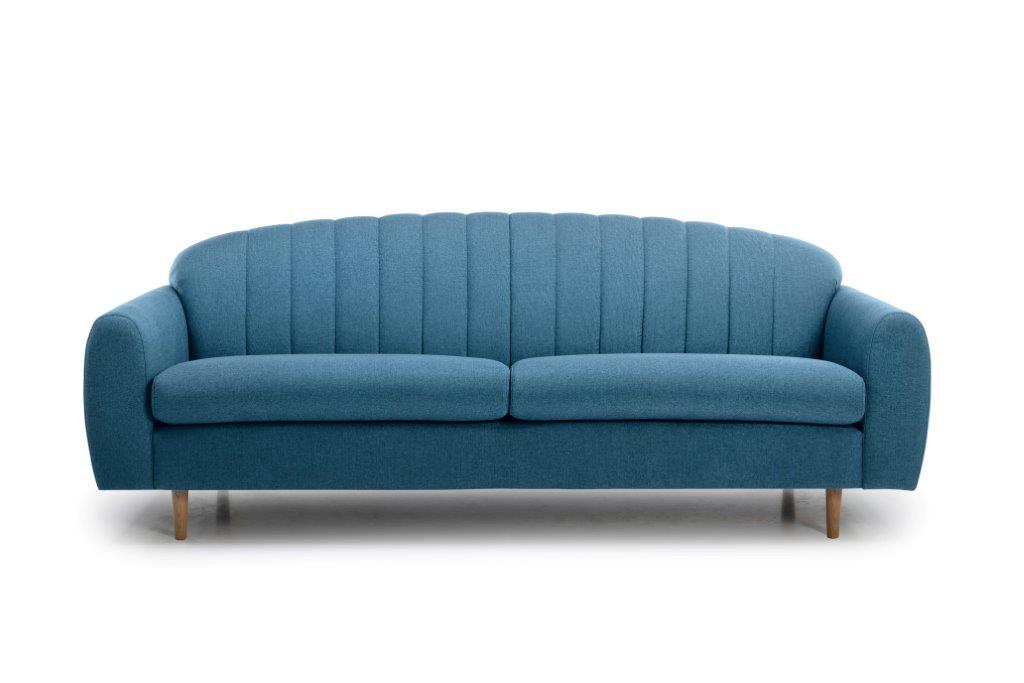 CADILLO 3 seater (FAME 16 blue) front softnord soft nord scandinavian style furniture modern interior design sofa bed chair pouf upholstery