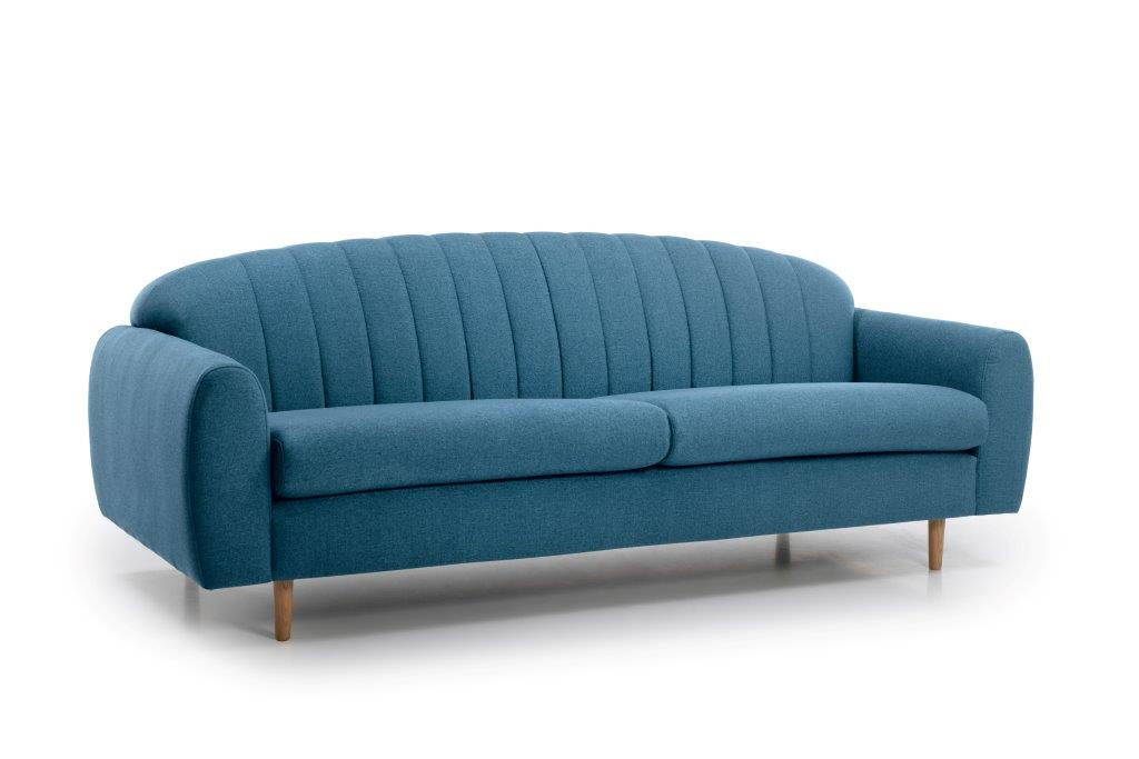 CADILLO 3 seater (FAME 16 blue) side softnord soft nord scandinavian style furniture modern interior design sofa bed chair pouf upholstery