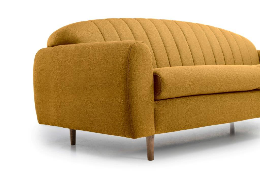 CADILLO 3 seater (FAME 24 gold) arm + leg softnord soft nord scandinavian style furniture modern interior design sofa bed chair pouf upholstery